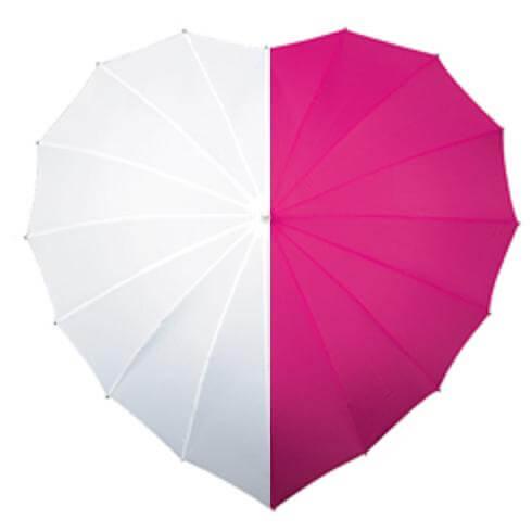 hart roze-wit